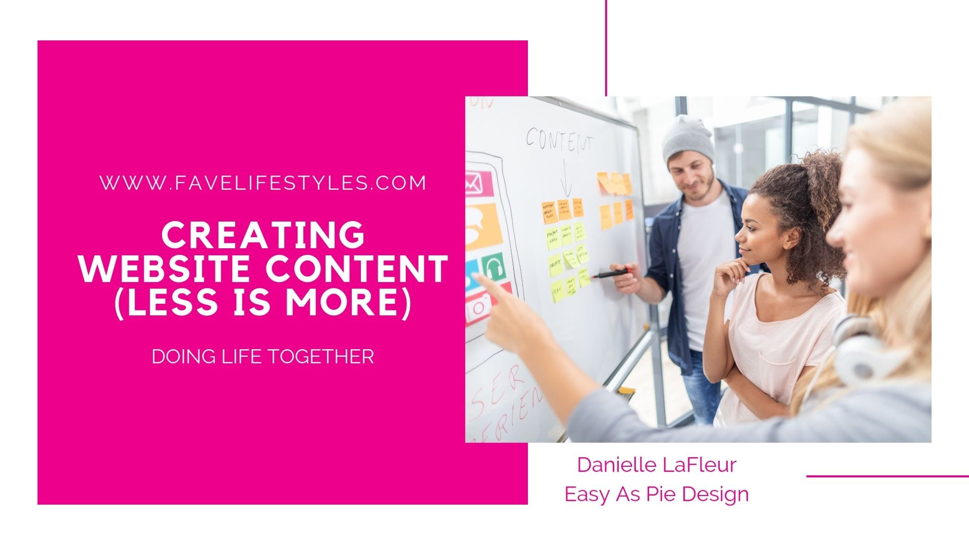 Creating Website Content (Less is More)