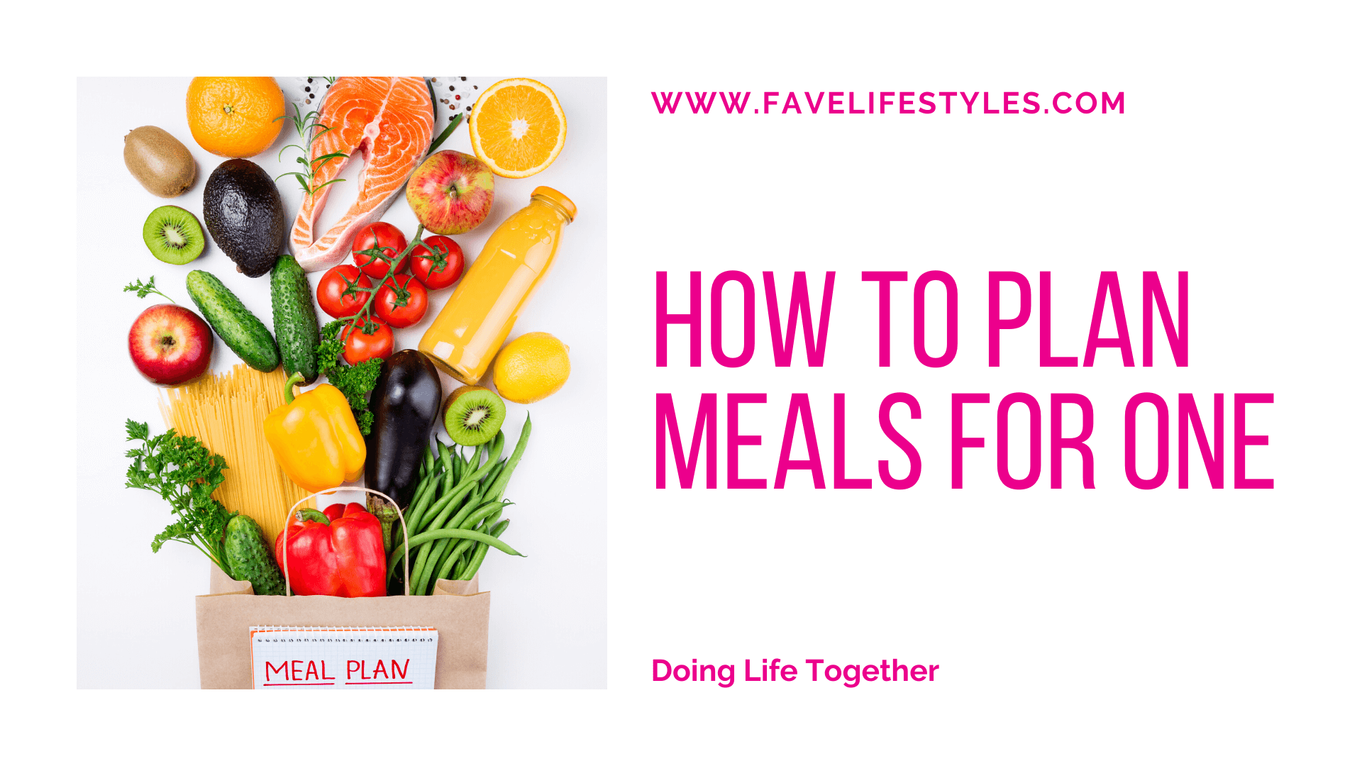 How to Plan Meals for One